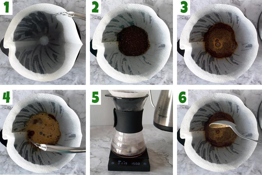 Pasos para hacer café helado