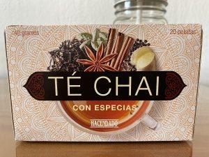 caja de té chai Mercadona