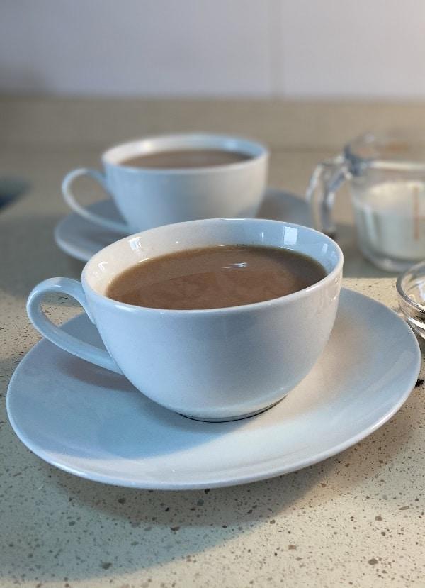 receta de té con leche