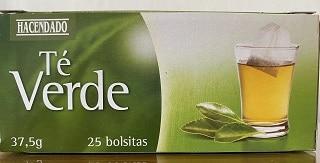 Caja de té verde de Mercadona